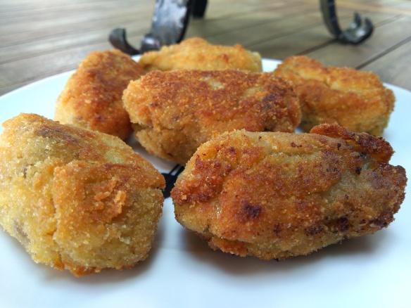 croquetas de roast beef Abadali en la cocina
